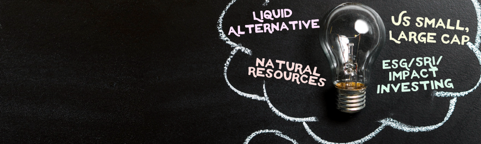 Looking for under the radar funds in Liquid Alternative, Commodities/Natural Resources, US Small/Large Cap, International Small Cap, or ESG/SRI/Impact Investing?